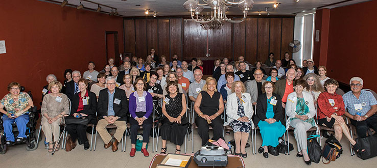 Alumni return to campus for the annual 50th Year Reunion.